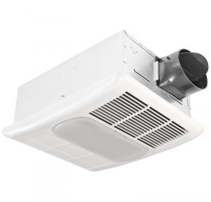 Delta Breez RAD80L Exhaust 80 CFM Bathroom Fan with Light and Heater