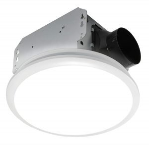 Homewerks 7141-110 Bathroom Fan Integrated LED Light Ceiling Mount Exhaust Ventilation